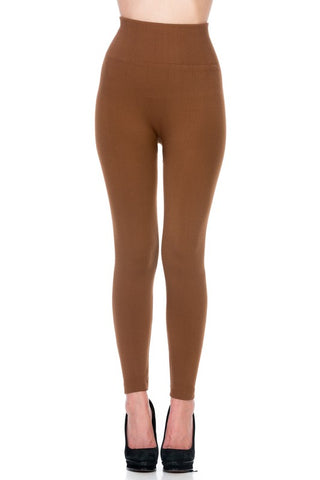 Super Soft High Waist Fleece Legging Thick Band