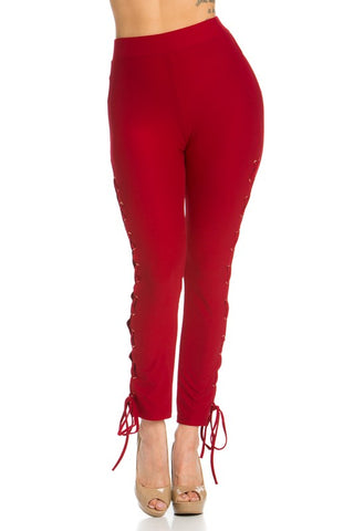 CRISS CROSS SIDE LEGGINGS WITH LOWER TIE