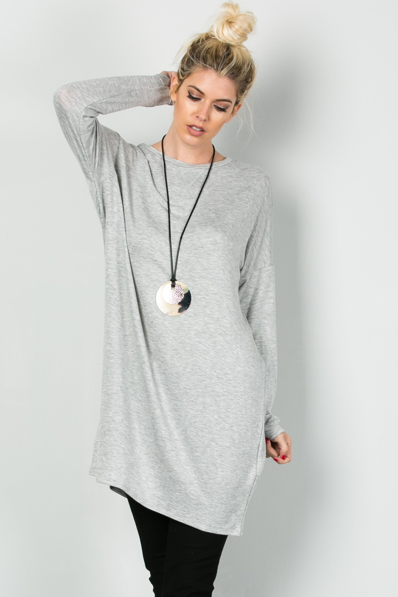 Classic Lazy Top Heather Grey - Tunic - My Yuccie - 1