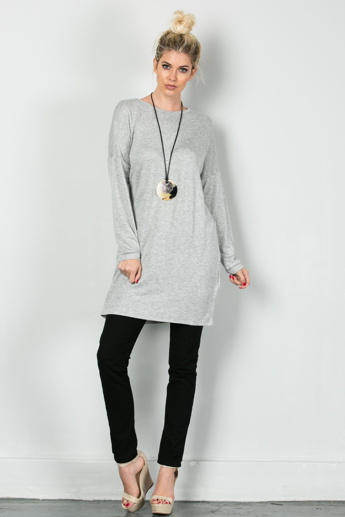 Classic Lazy Top Heather Grey - Tunic - My Yuccie - 5