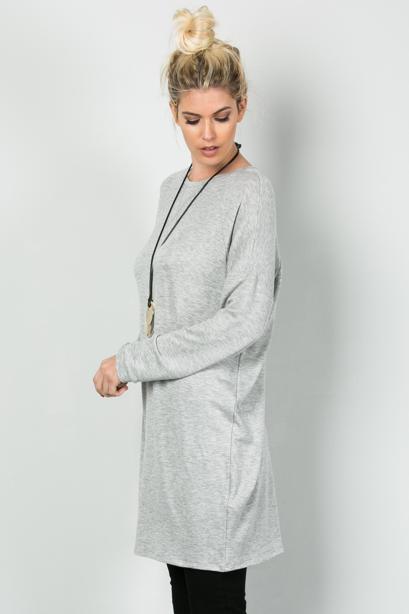 Classic Lazy Top Heather Grey - Tunic - My Yuccie - 2