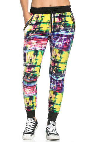 Digital Colors Jogger Pants Multi - Jogger Pants - My Yuccie - 1