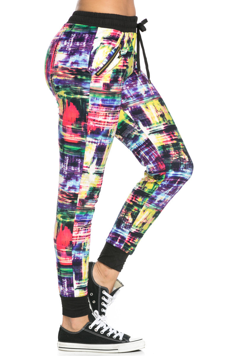 Digital Colors Jogger Pants Multi