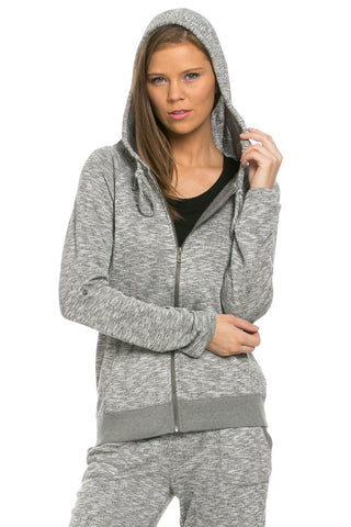 Lightweight French Terry Hoodie Jacket Charcoal - Jacket - My Yuccie - 1