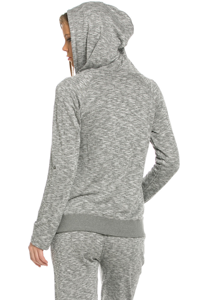 Lightweight French Terry Hoodie Jacket Charcoal - Jacket - My Yuccie - 4