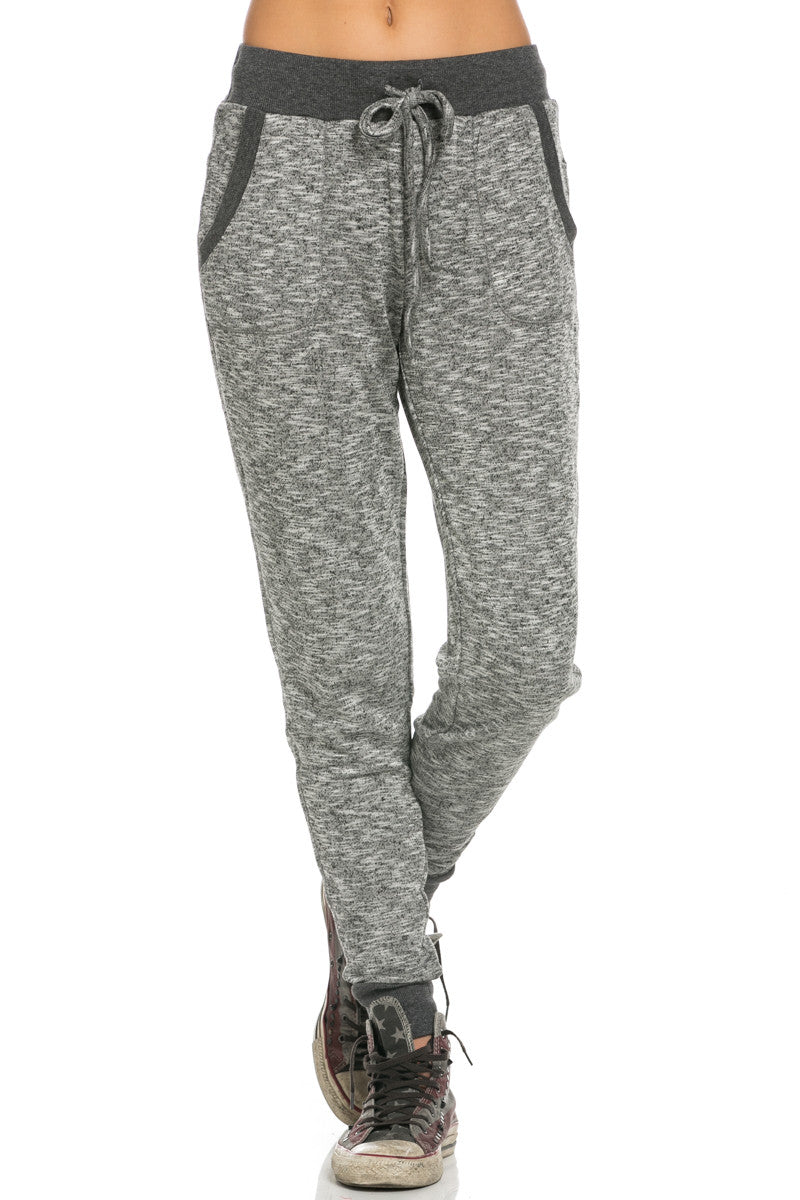 Slim Jogger Sweatpants with Side Pockets Black - Pants - My Yuccie - 1