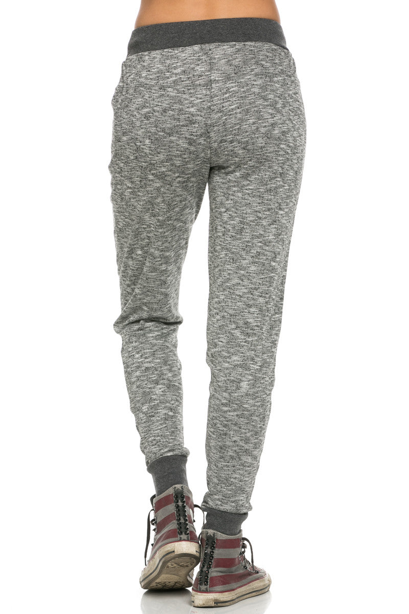 Slim Jogger Sweatpants with Side Pockets Black - Pants - My Yuccie - 3