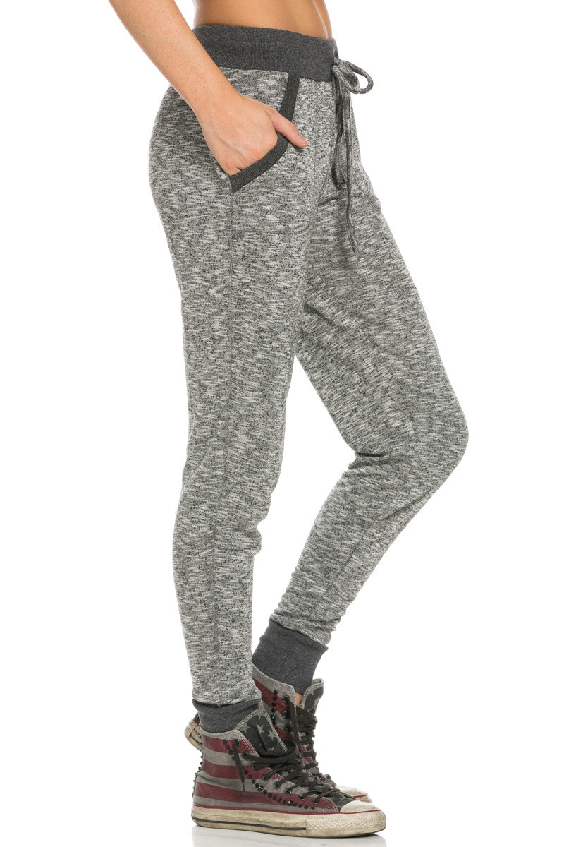 Slim Jogger Sweatpants with Side Pockets Black - Pants - My Yuccie - 4