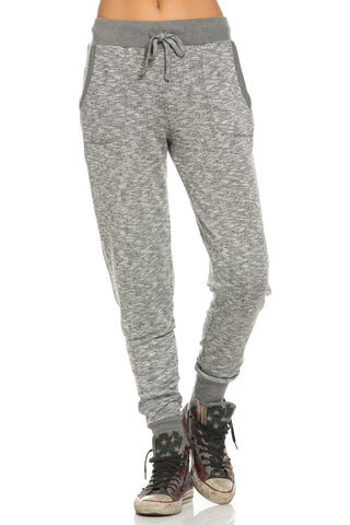 Slim Jogger Sweatpants with Side Pockets Charcoal - Pants - My Yuccie - 1