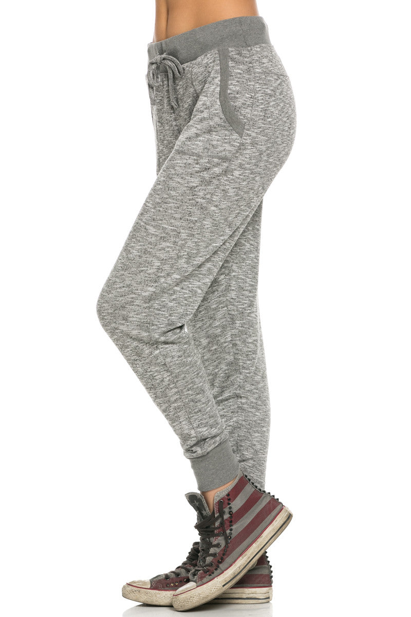 Slim Jogger Sweatpants with Side Pockets Charcoal - Pants - My Yuccie - 2