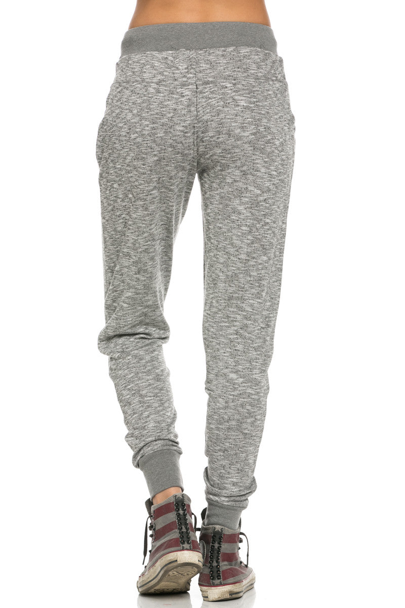 Slim Jogger Sweatpants with Side Pockets Charcoal - Pants - My Yuccie - 3