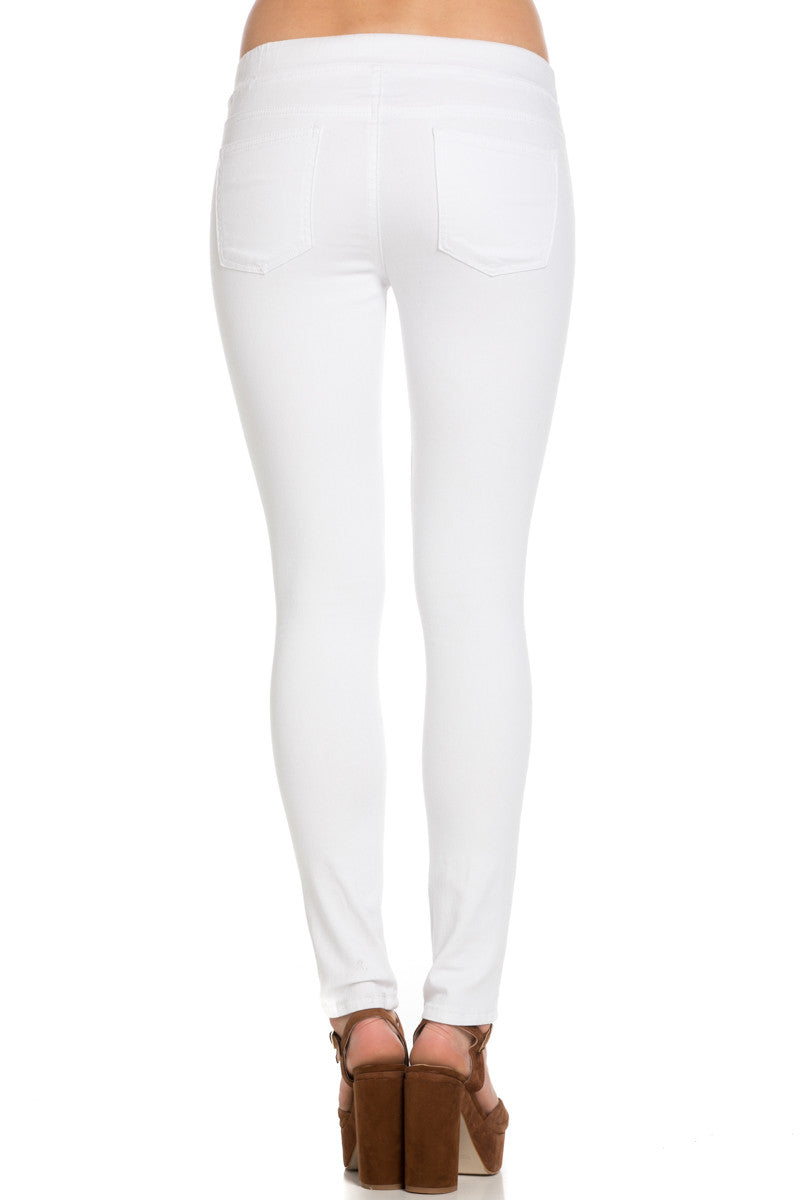 Destroyed White Skinny Jogger Jeans - Pants - My Yuccie - 3