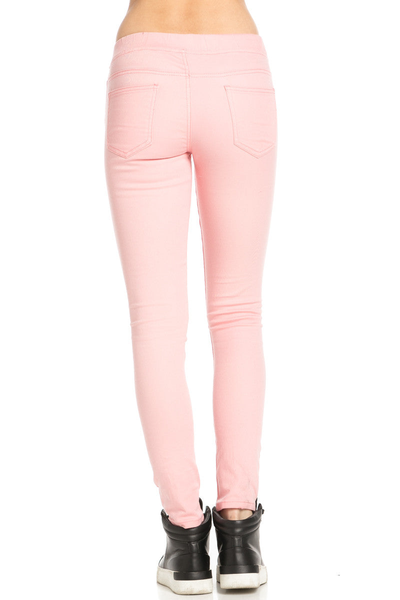 Destroyed Peach Skinny Jogger Jeans - Pants - My Yuccie - 3