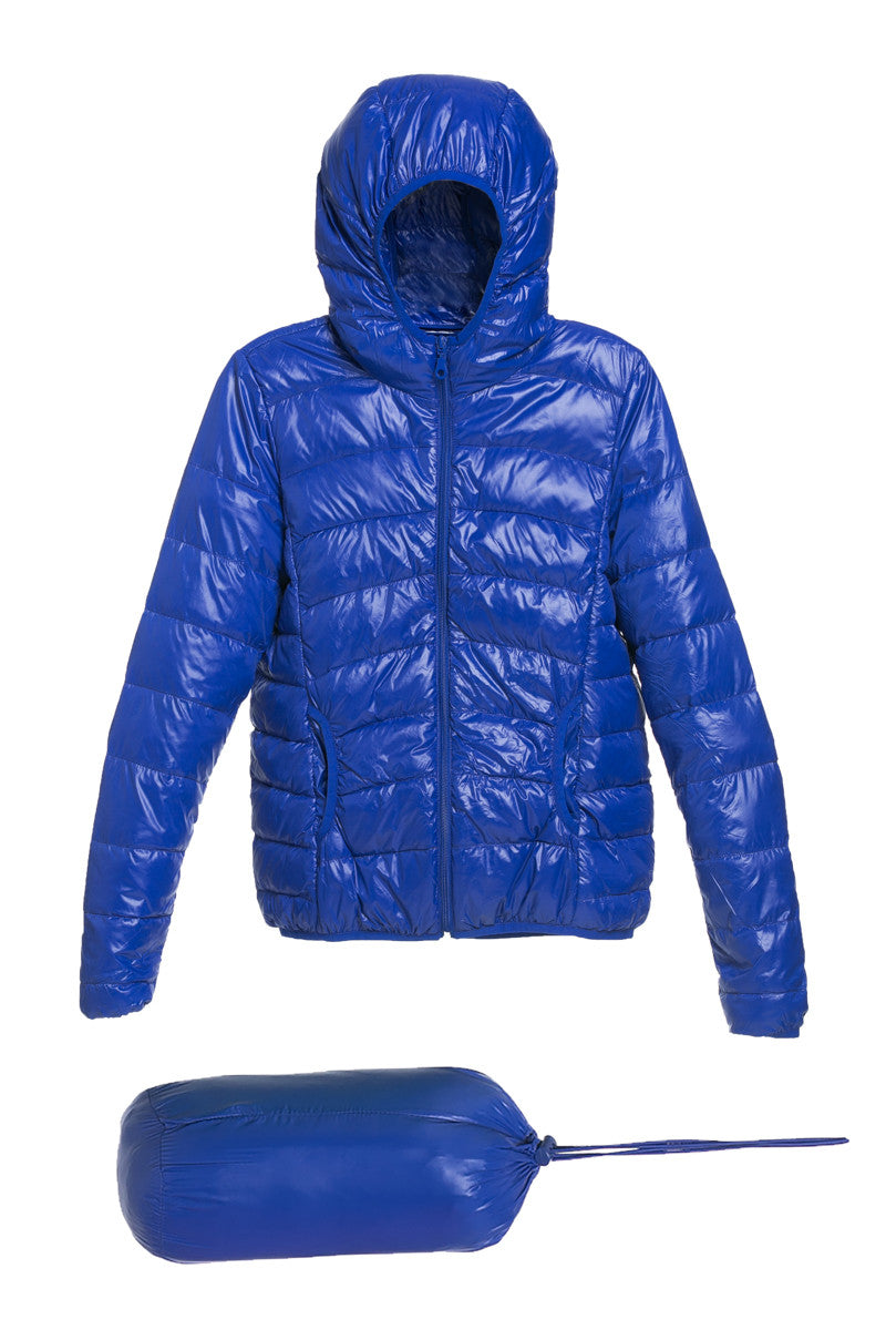 Lightweight Puffer Down Hooded Jacket Blue - Jacket - My Yuccie - 5