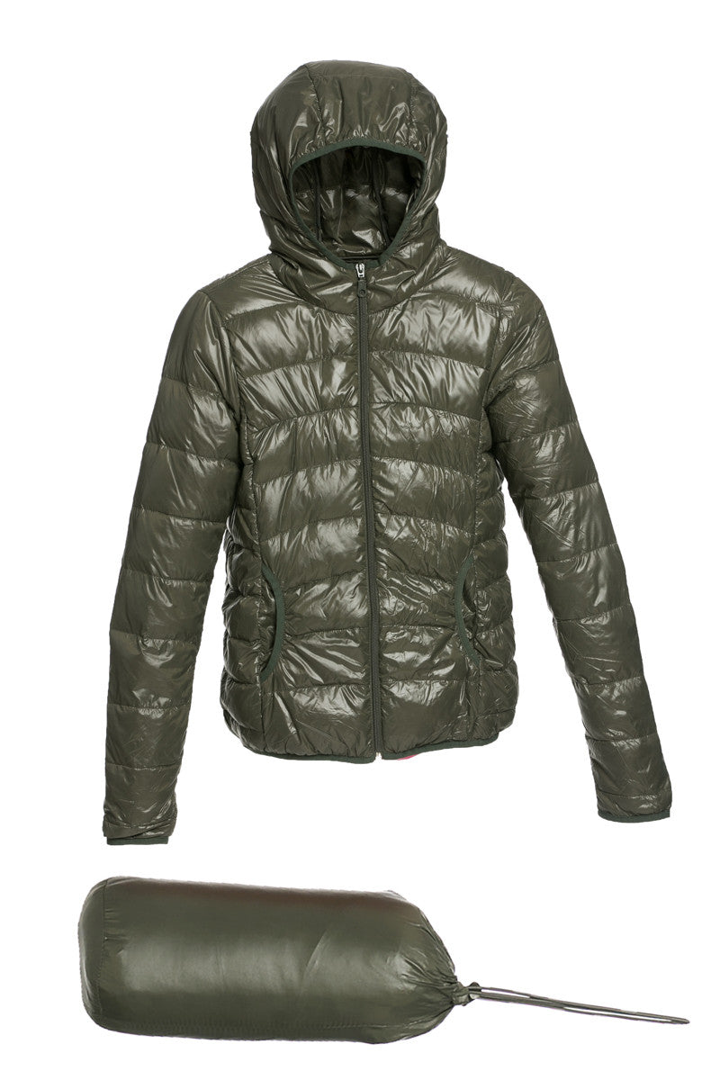 Lightweight Puffer Down Hooded Jacket Olive - Jacket - My Yuccie - 5