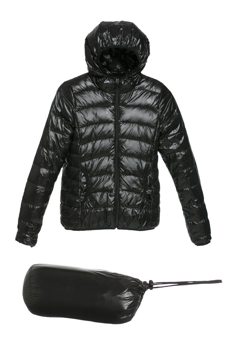 Lightweight Puffer Down Hooded Jacket Black - Jacket - My Yuccie - 5