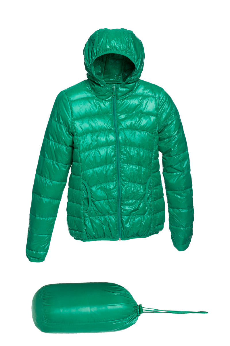 Lightweight Puffer Down Hooded Jacket Green - Jacket - My Yuccie - 5