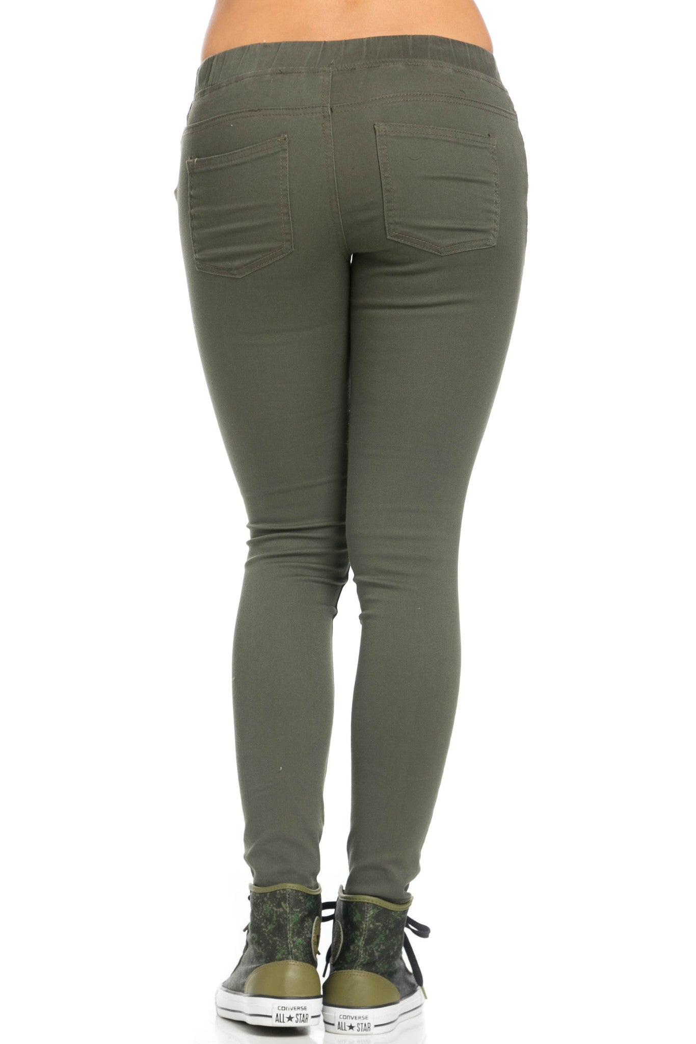Destroyed Olive Skinny Jogger Jeans - Pants - My Yuccie - 4