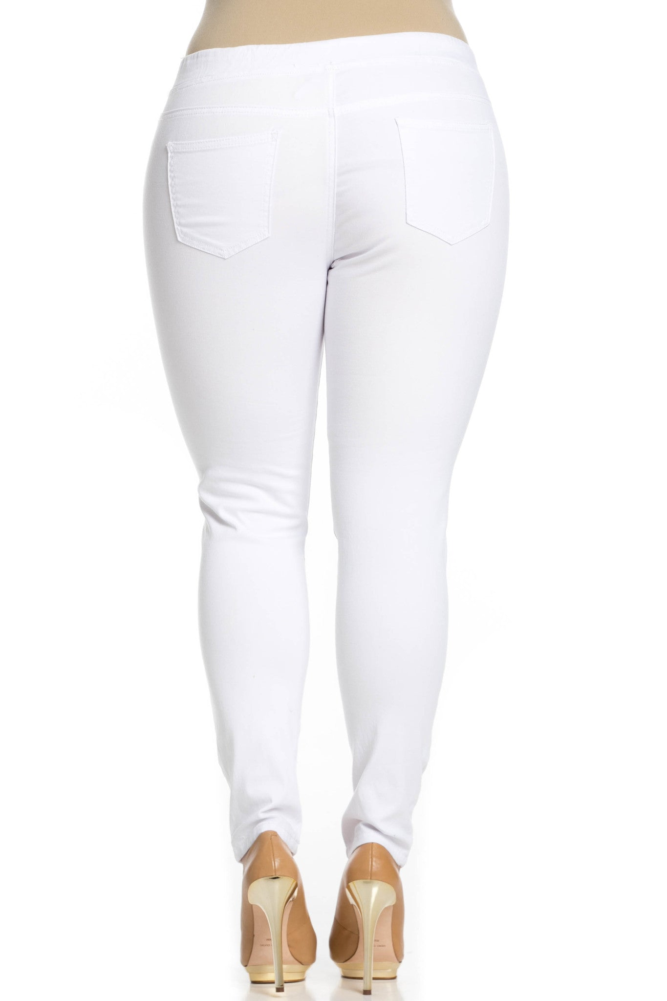 Distressed Skinny White Jogger Jeans - Pants - My Yuccie - 11