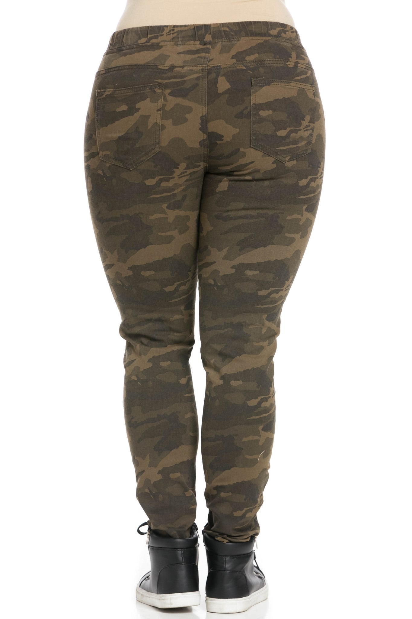 Destroyed Camouflage Skinny Jogger Jeans - Pants - My Yuccie - 10