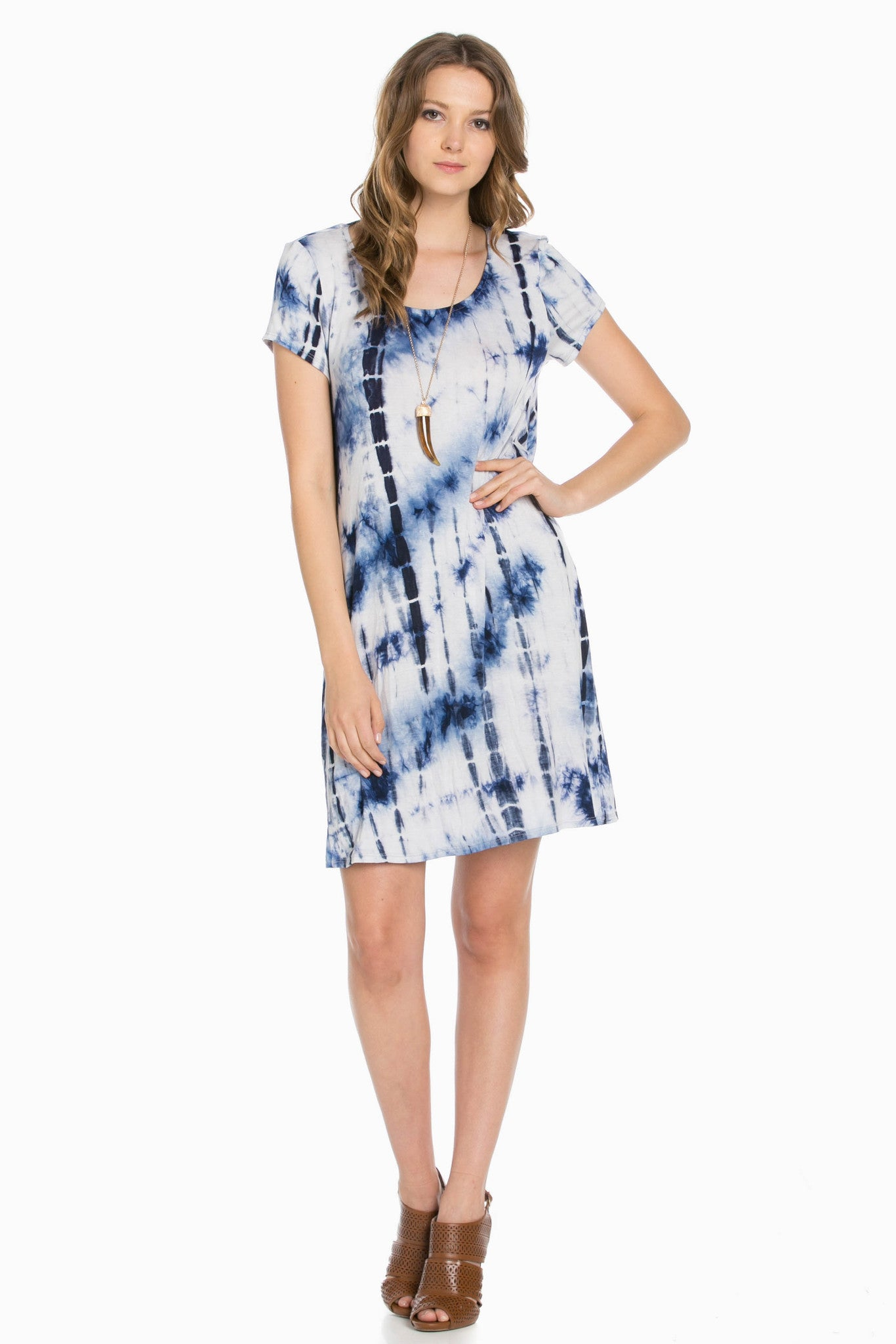 Open Back Blue Tie Dye Dress - Dresses - My Yuccie - 2