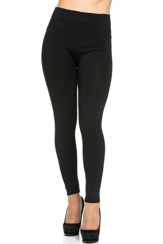 Fleece Lined Leggings Black - Leggings - My Yuccie - 1