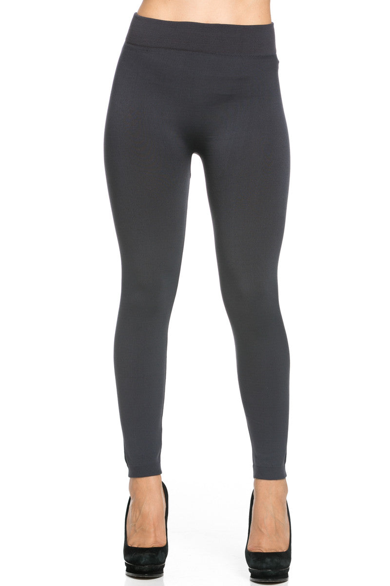 Fleece Lined Leggings Charcoal - Leggings - My Yuccie - 2