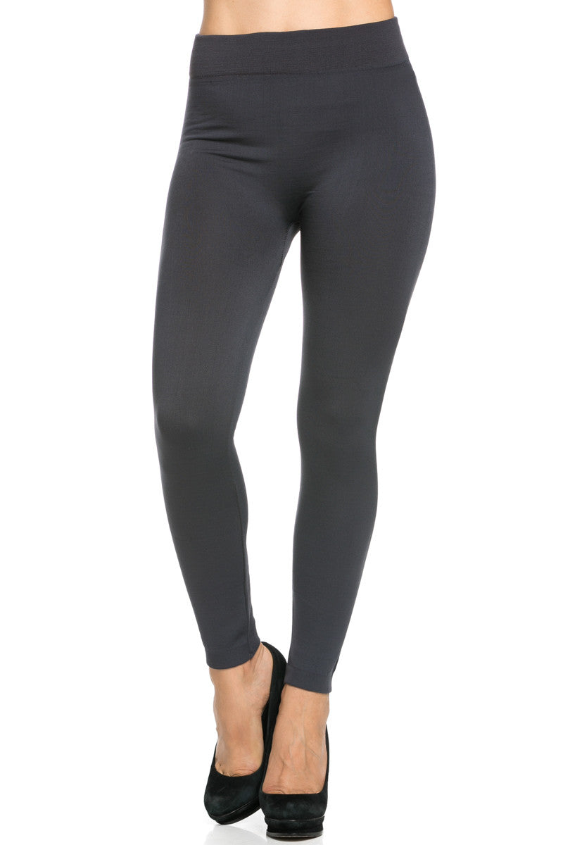 Fleece Lined Leggings Charcoal - Leggings - My Yuccie - 3