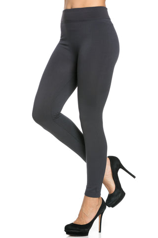 Fleece Lined Leggings Charcoal - Leggings - My Yuccie - 1