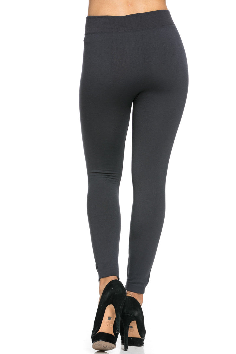 Fleece Lined Leggings Charcoal - Leggings - My Yuccie - 5
