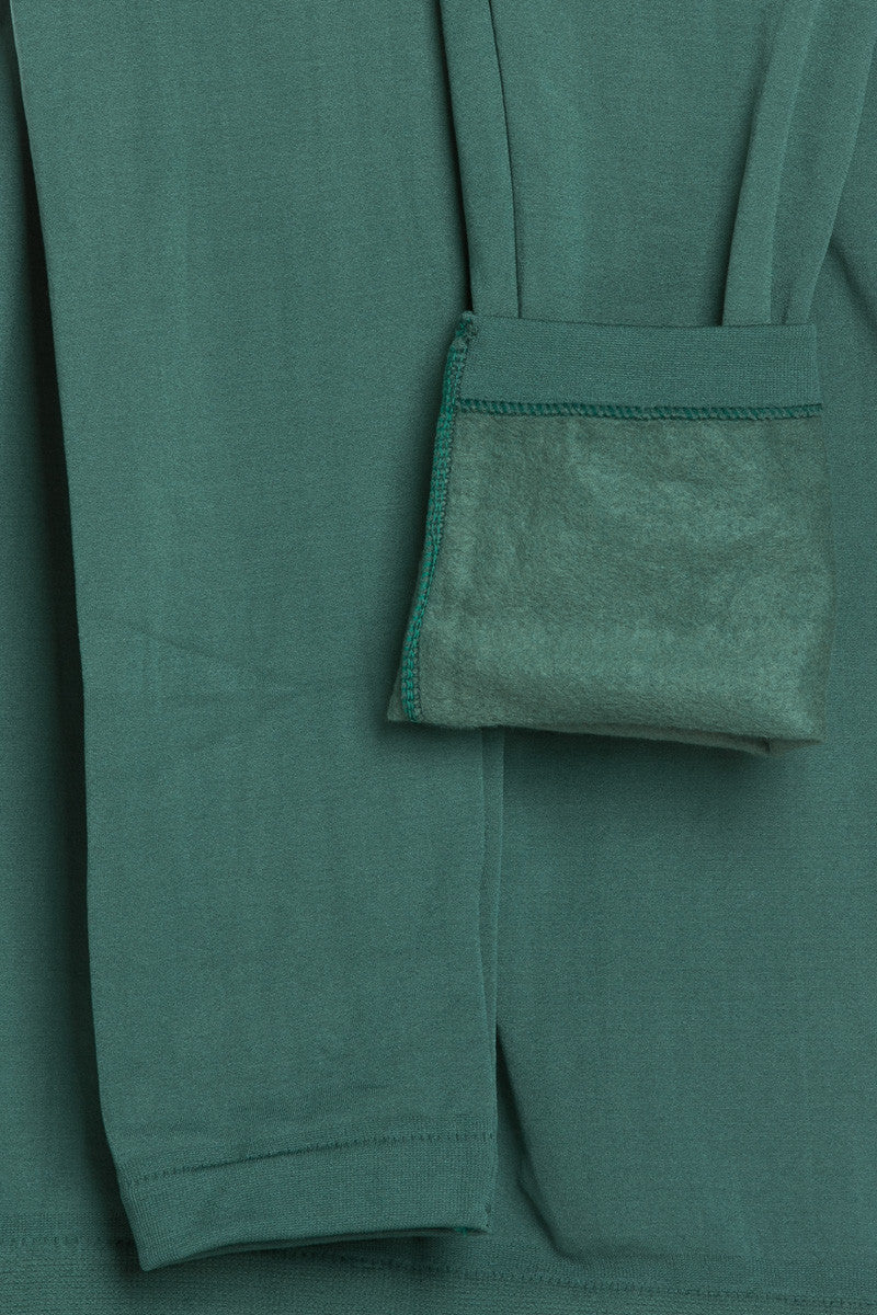 Fleece Lined Leggings Dark Green - Leggings - My Yuccie - 8