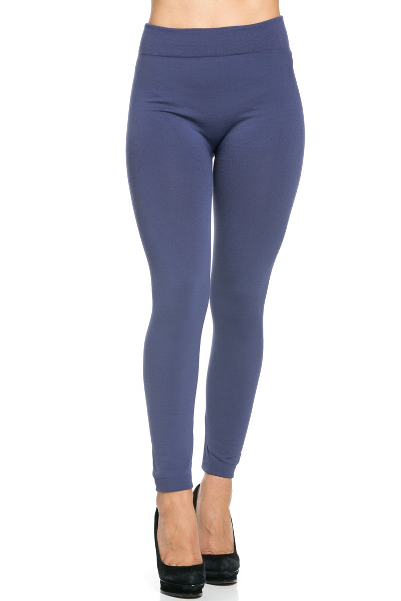 Fleece Lined Leggings Midnight Blue - Leggings - My Yuccie - 2
