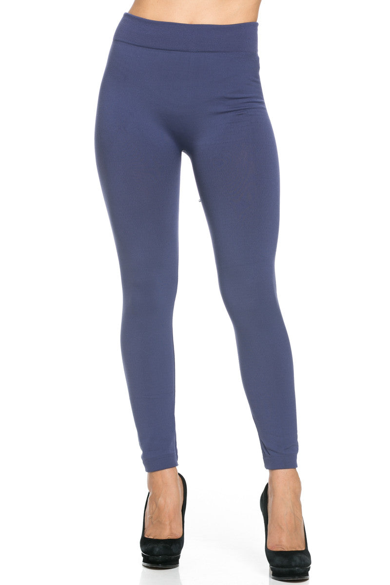 Fleece Lined Leggings Midnight Blue - Leggings - My Yuccie - 3