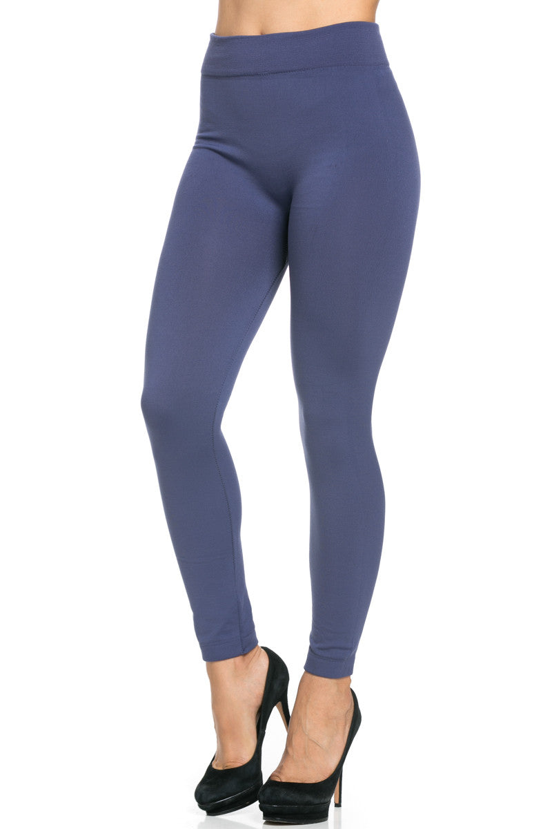Fleece Lined Leggings Midnight Blue - Leggings - My Yuccie - 4