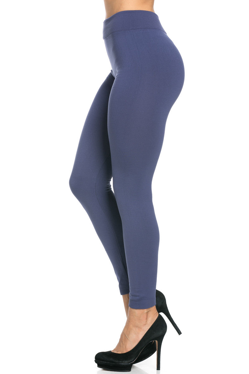 Fleece Lined Leggings Midnight Blue - Leggings - My Yuccie - 1