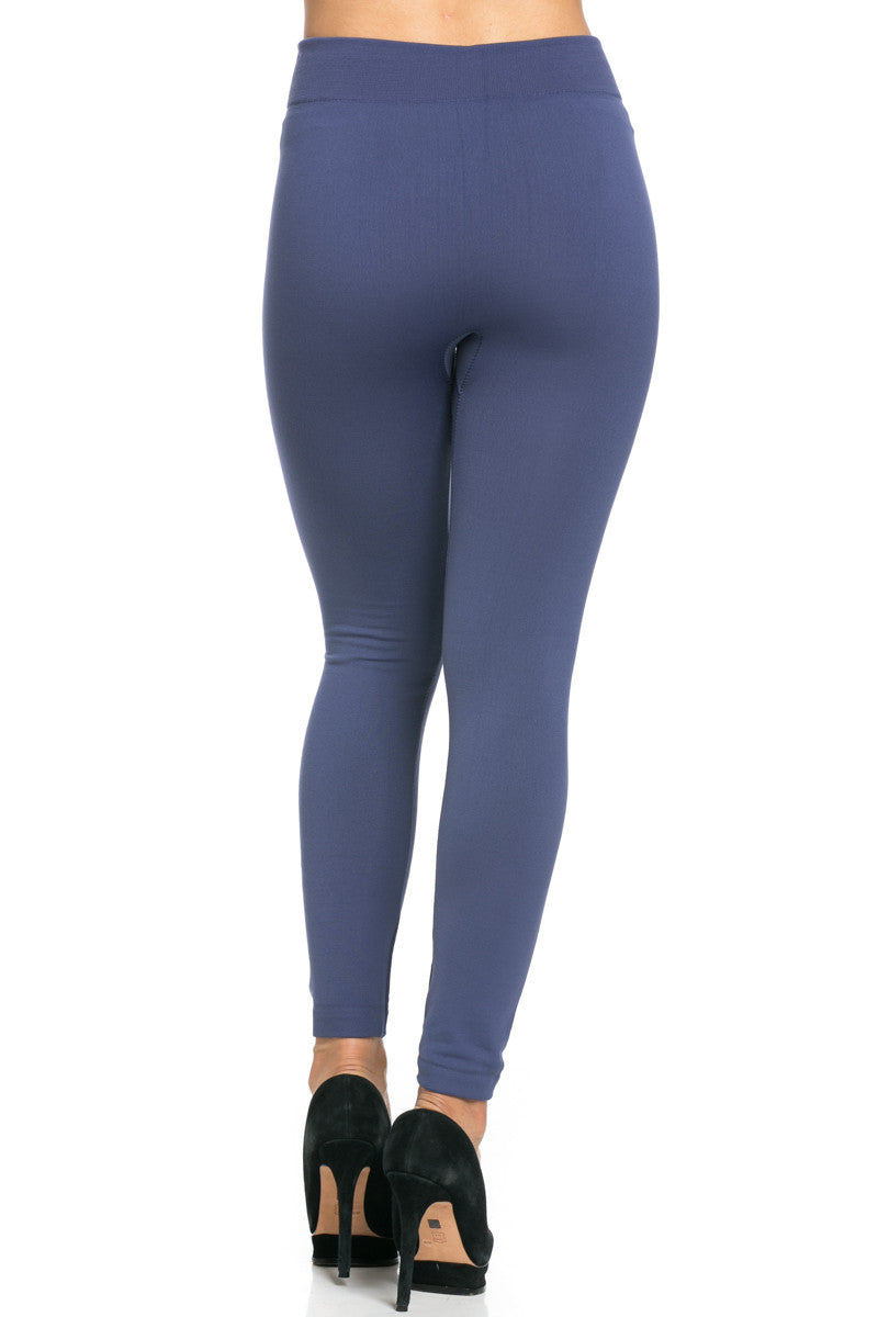 Fleece Lined Leggings Midnight Blue - Leggings - My Yuccie - 5