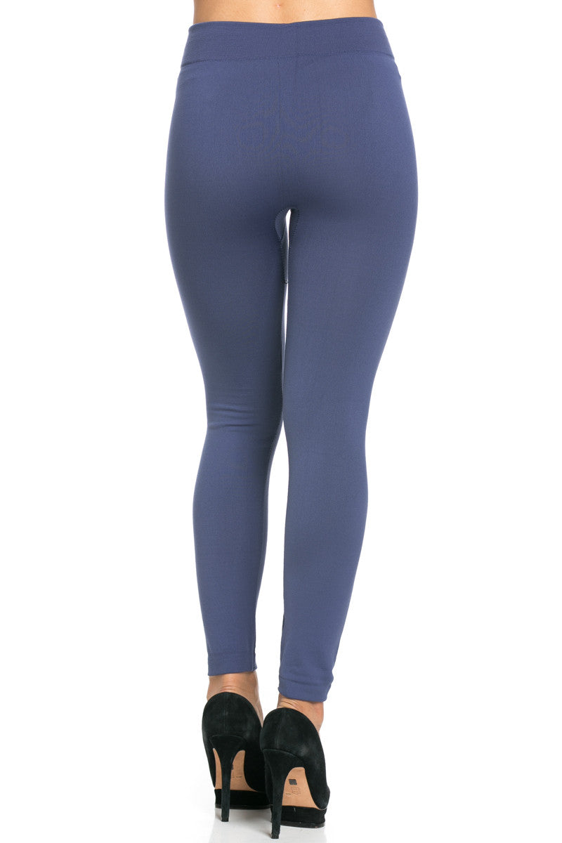 Fleece Lined Leggings Midnight Blue - Leggings - My Yuccie - 6