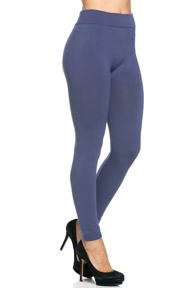Fleece Lined Leggings Midnight Blue - Leggings - My Yuccie - 7