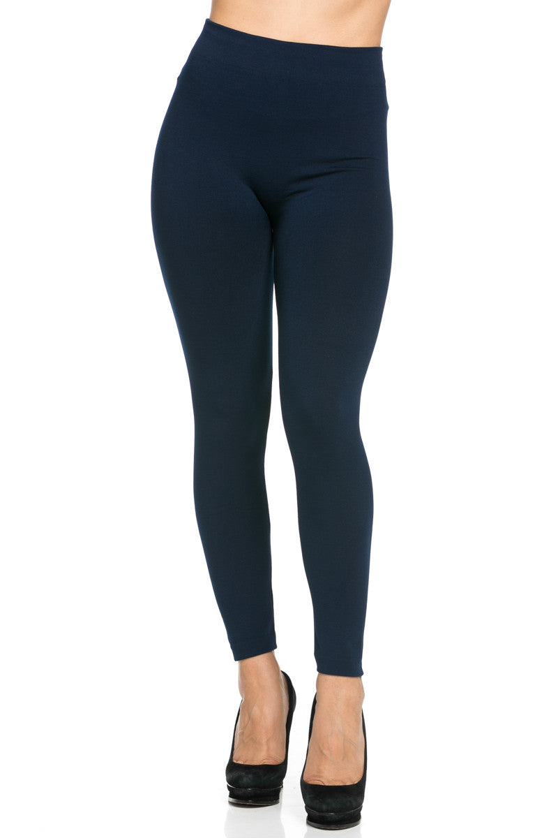 Fleece Lined Leggings Navy - Leggings - My Yuccie - 2
