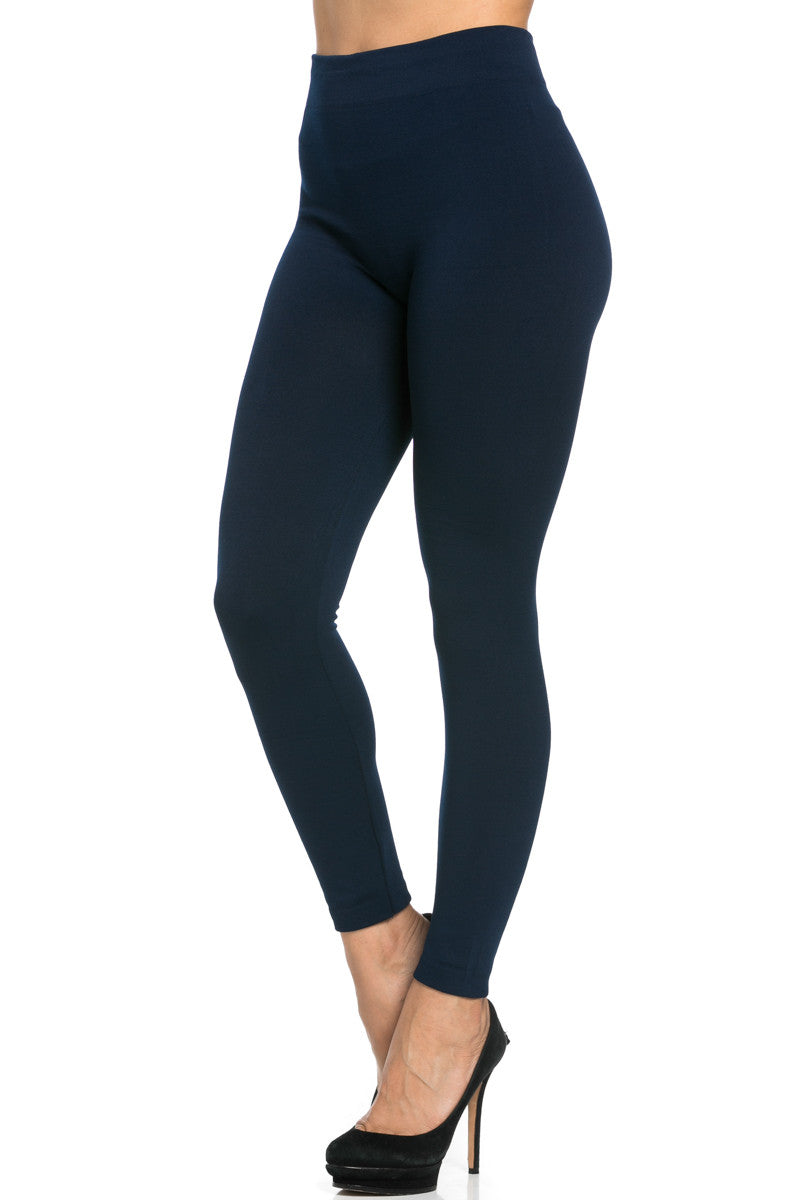 Fleece Lined Leggings Navy - Leggings - My Yuccie - 4