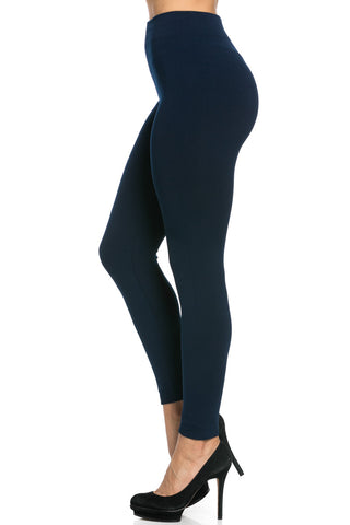 Fleece Lined Leggings Navy - Leggings - My Yuccie - 1