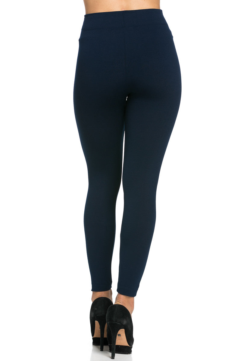 Fleece Lined Leggings Navy - Leggings - My Yuccie - 5
