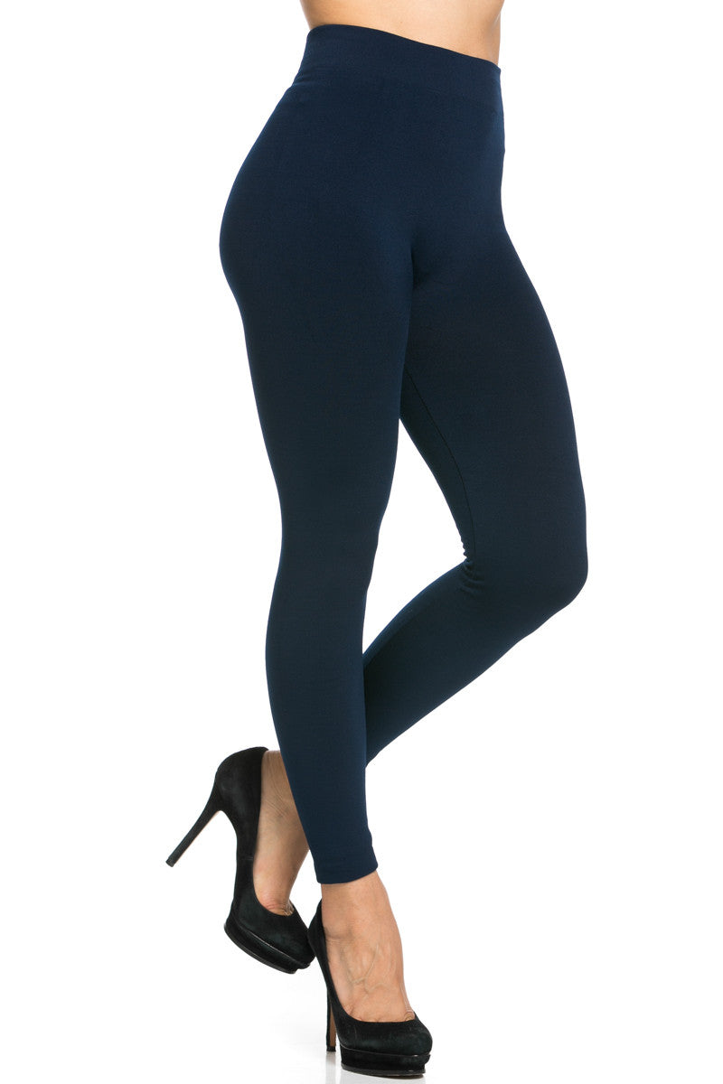 Fleece Lined Leggings Navy - Leggings - My Yuccie - 6