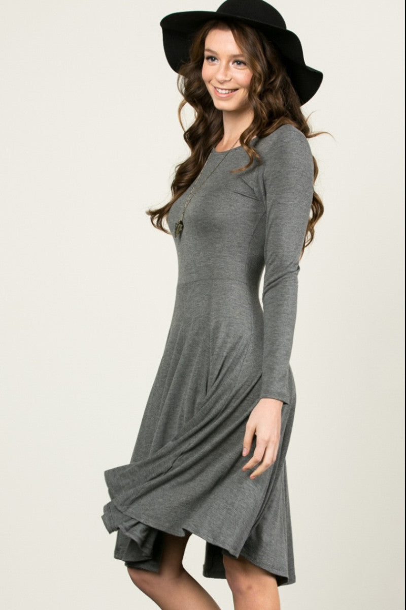 More Flow Swing Dress Charcoal - Dresses - My Yuccie - 2
