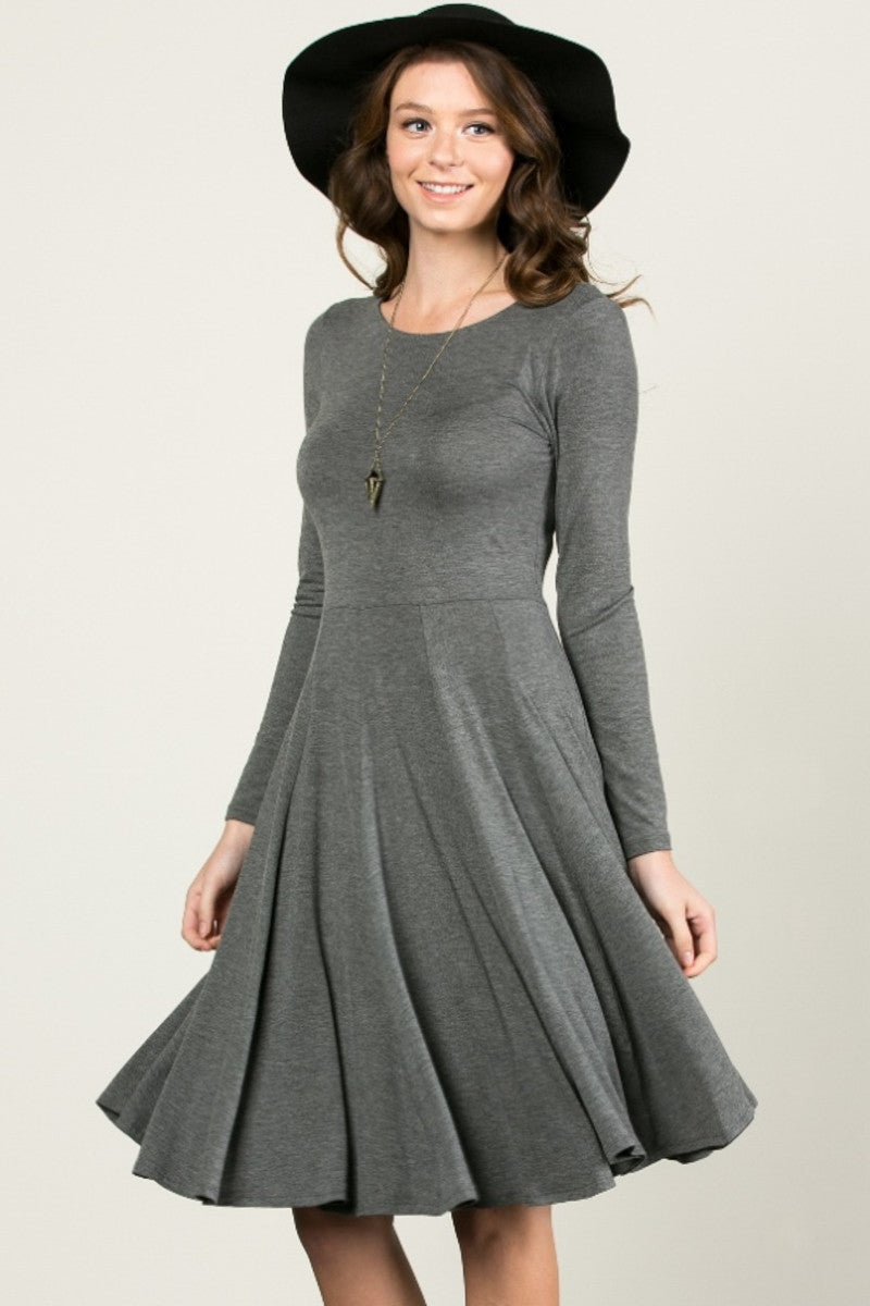 More Flow Swing Dress Charcoal - Dresses - My Yuccie - 1