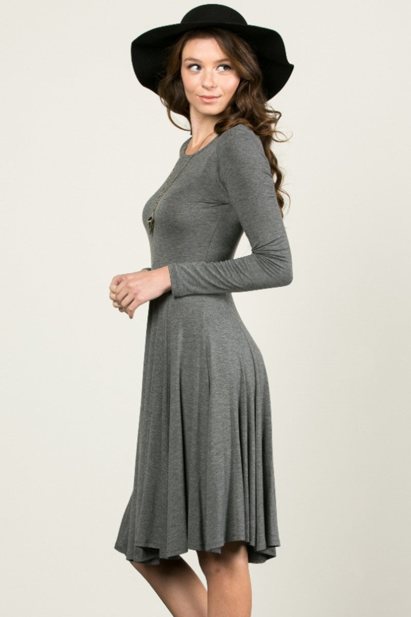 More Flow Swing Dress Charcoal - Dresses - My Yuccie - 3