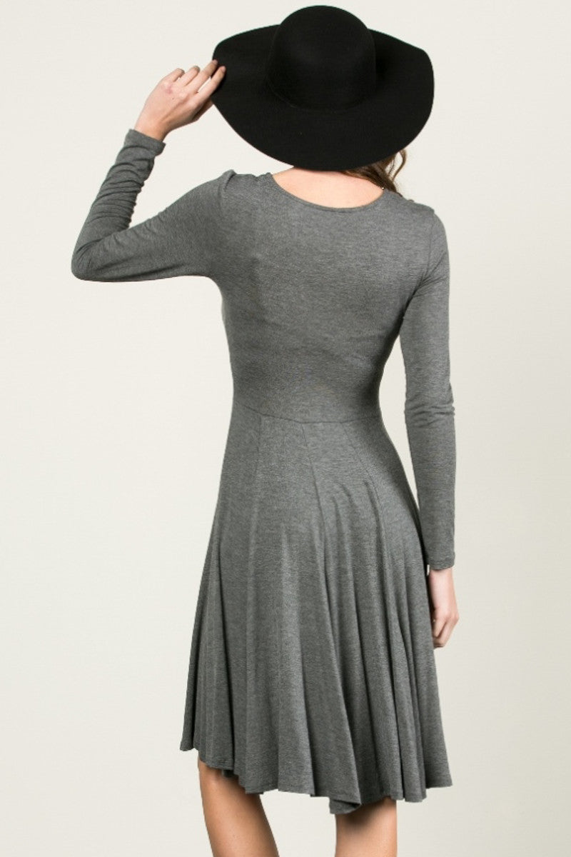 More Flow Swing Dress Charcoal - Dresses - My Yuccie - 4