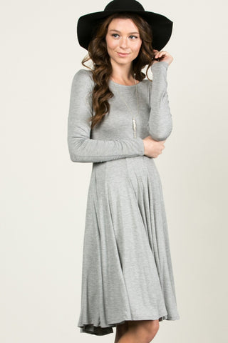 More Flow Swing Dress Heather Grey - Dresses - My Yuccie - 1