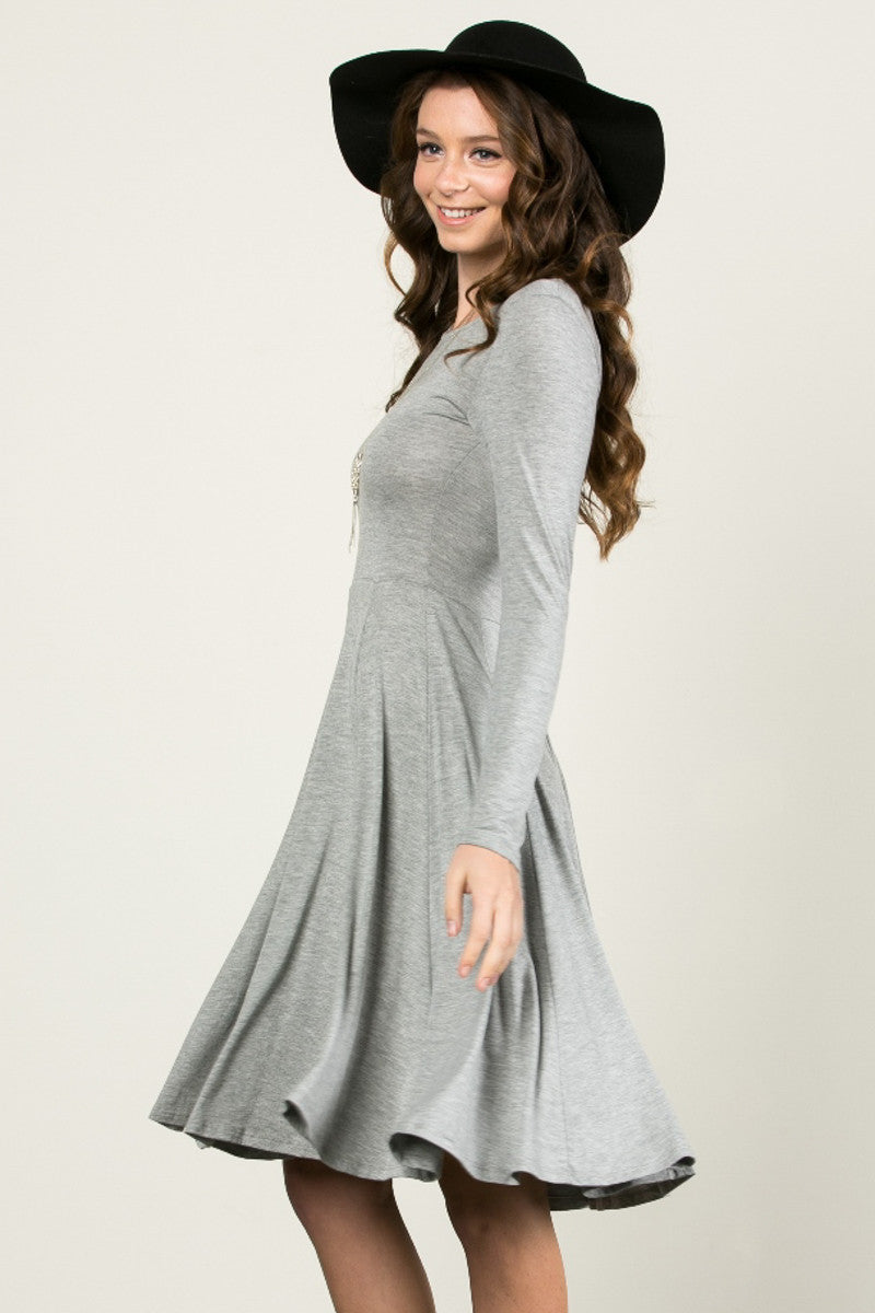 More Flow Swing Dress Heather Grey - Dresses - My Yuccie - 2