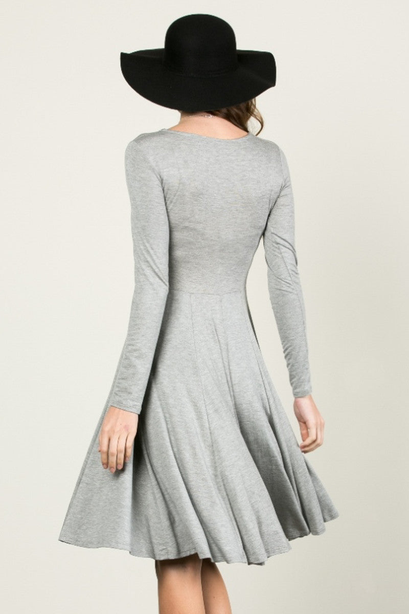 More Flow Swing Dress Heather Grey - Dresses - My Yuccie - 3